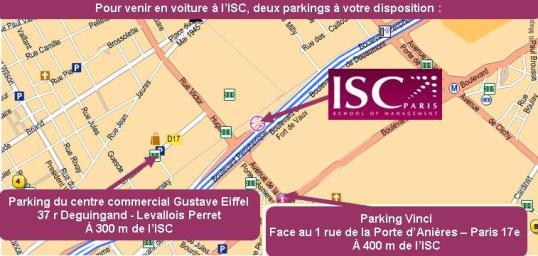 Parkings à proximité de l'ISC